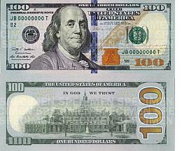 Министерство финансов США презентовало новую стодолларовую банкноту